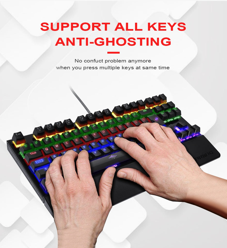 Anti-ghosting LED Mechanical Gaming Keyboard