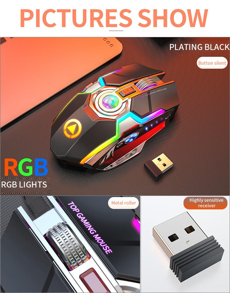 Wireless Rechargeable Gaming Mouse