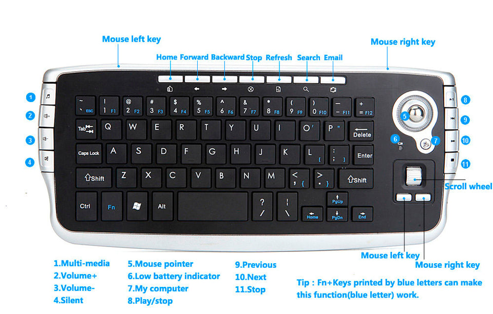 Mini Touchpad Professional Gaming Keyboard