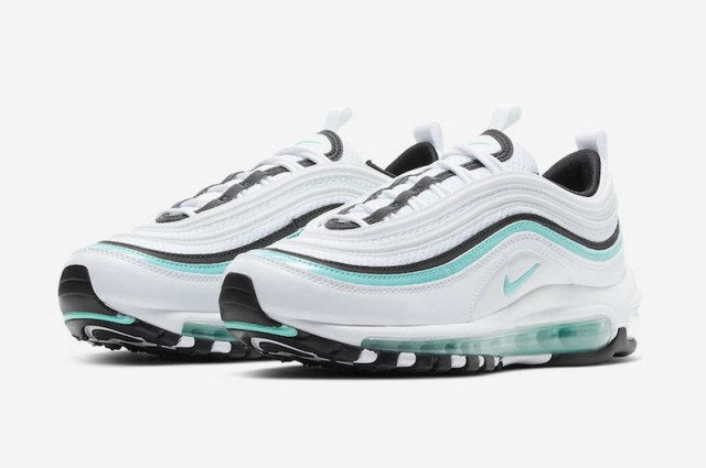 green black and white air max 97