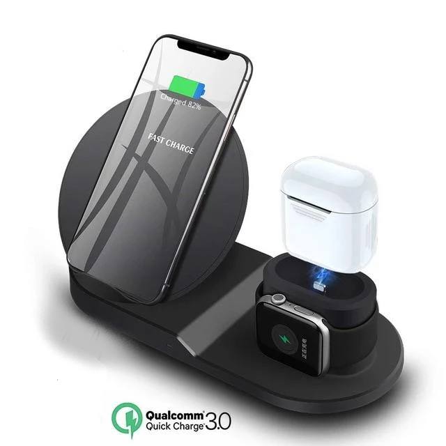 Wireless Charger Stand for iPhone AirPods Apple Watch SS1910