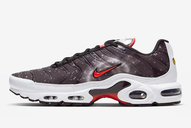 "NIKE AIR MAX PLUS TN ""BLACK/WHITE/LASER CRIMSON/PHOTON"" / 6019-001"
