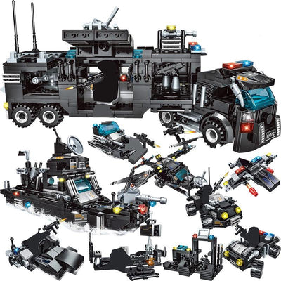 SWAT Team Truck Blocks Educational Toy DD519