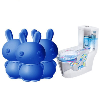 Cute Rabbit Blue Bubble Toilet Cleaner