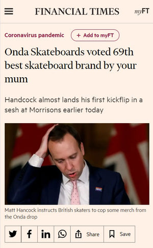 Onda Skateboards get's a shout out in the Financial Times - Onda Skateboards