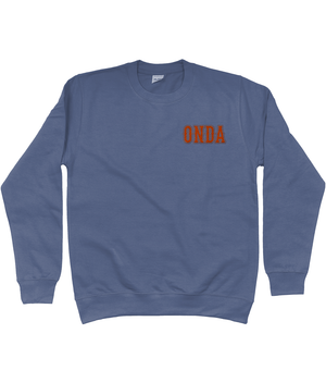 Open image in slideshow, Embroidered ONDA Sweatshirt - Airforce Blue - Onda Skateboards