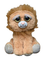 Plush stuffed lion with sweet face