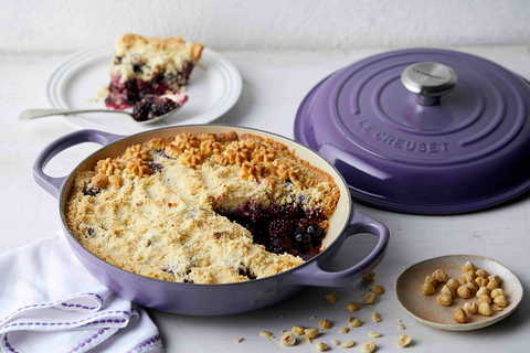 Blueberry and Blackberry Crumble