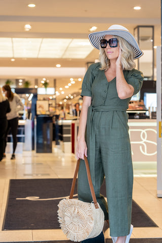 Charlotte Broadbent wears Whistles jumpsuit from SS20 collection