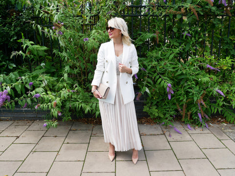Neutral occasion wear look - Helen Canning