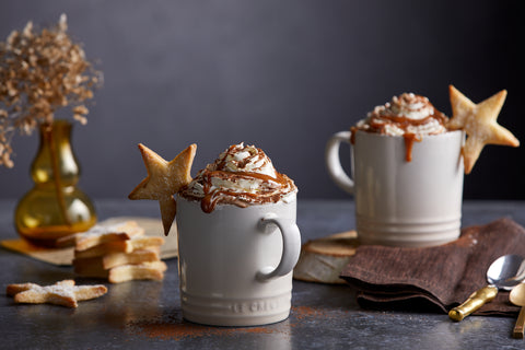 Dulce de Leche Hot Chocolate with Shortbread Stars