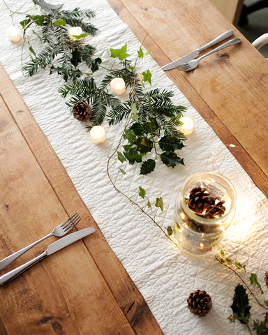 Robert Welch cutlery on Christmas table scape by Sisley White