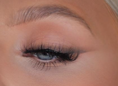 Graphic liner eye look by M.A.C MUA Caitlyn Day