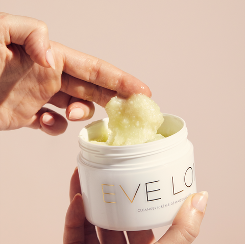 Eve Lom Cleanser hand in texture