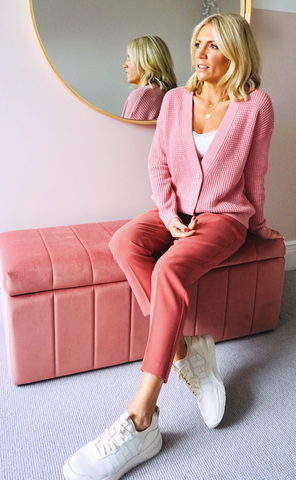 Charlotte Broadbent in SS20 Esprit and Forever New pink look