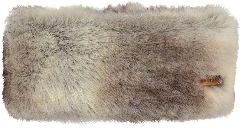 HEATHER BROWN FUR HEADBAND