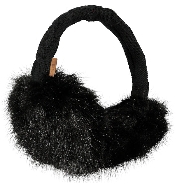 Barts Accessories Black Fur Earmuffs