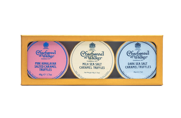 SALTED CARAMEL MINI TRUFFLE TRIO GIFT SET 144g