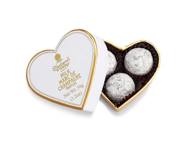 MILK CHOCOLATE MARC DE CHAMPAGNE TRUFFLES 34G