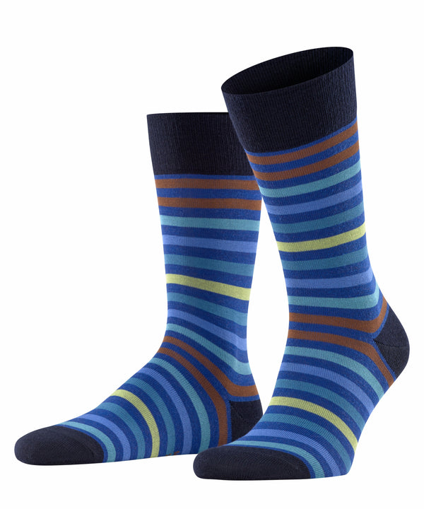 DARK NAVY TINTED STRIPE SOCKS