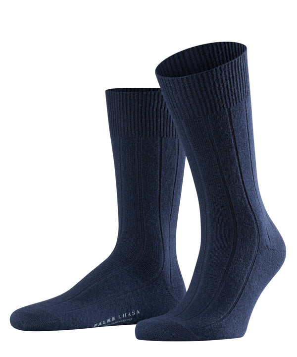DARK NAVY LHASA RIB SOCKS