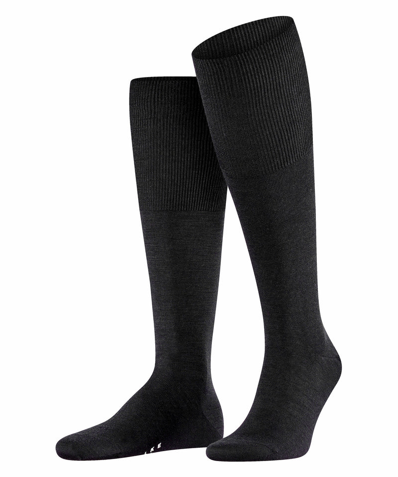 Falke Black Airport Knee High Socks