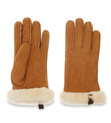 SHORTY LEATHER TRIM GLOVES