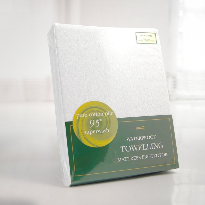 WATERPROOF TOWELLING MATTRESS PROTECTOR