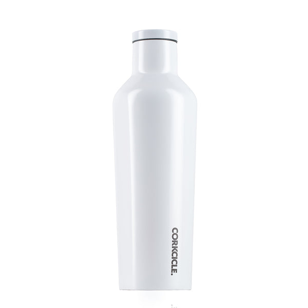 DIPPED MODERNIST WHITE CANTEEN WATER BOTTLE 475ML
