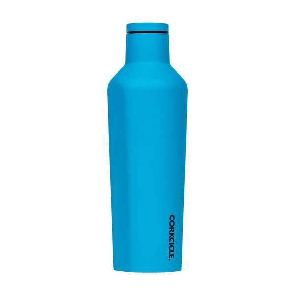 Corkcicle Neon Lights Blue Canteen Water Bottle 475ml
