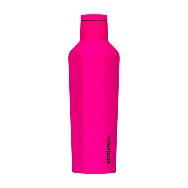 Corkcicle Neon Lights Pink Canteen Water Bottle 475ml