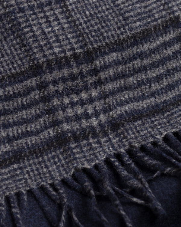 GLEN CHECK WOOL SCARF