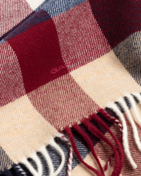 MULTI CHECK WOOL SCARF