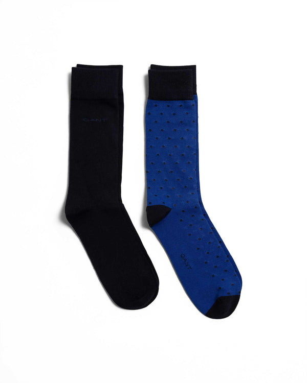2 PACK SOLID AND DOT SOCKS