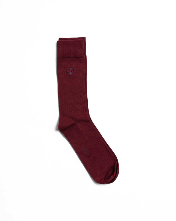 Gant Solid Colour Ribbed Socks
