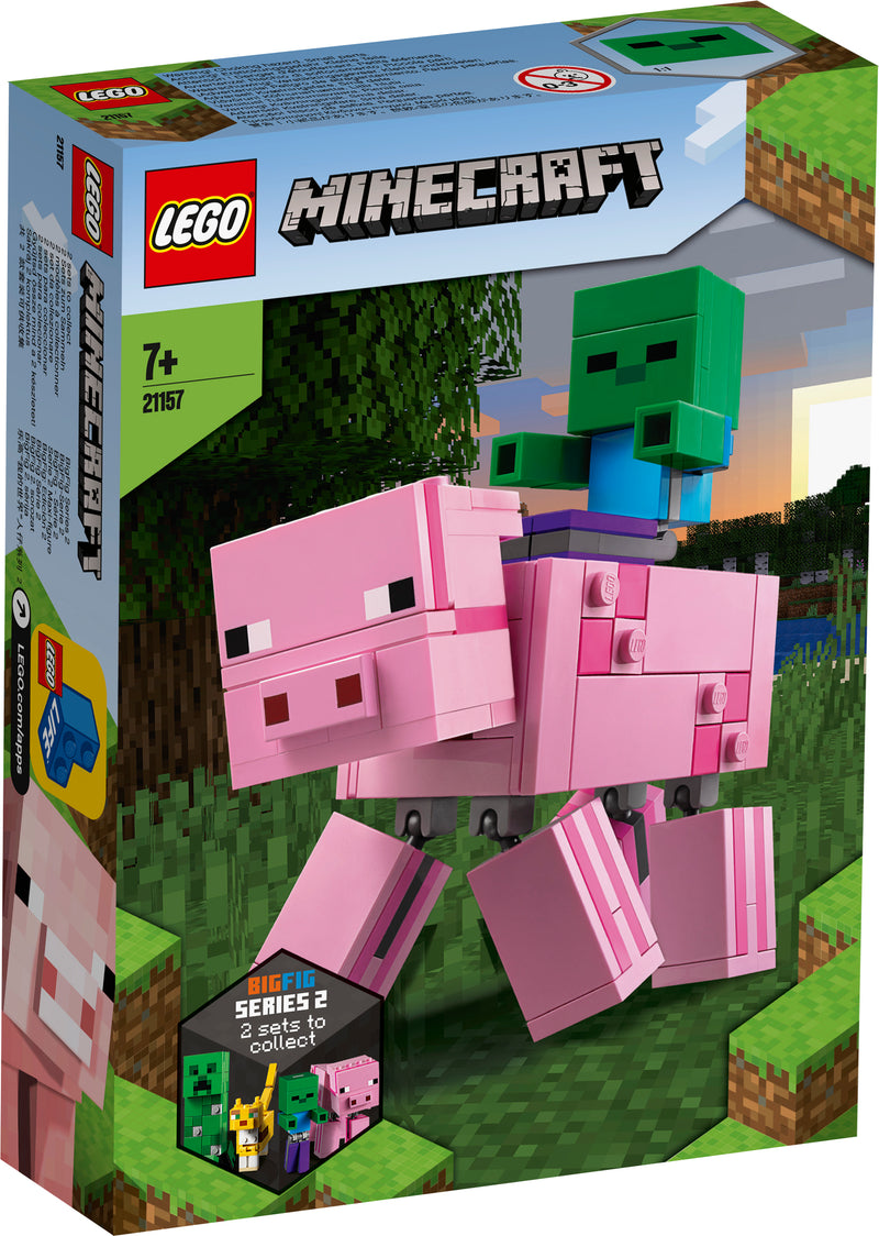 MINECRAFT BIGFIG PIG WITH BABY ZOMBIE