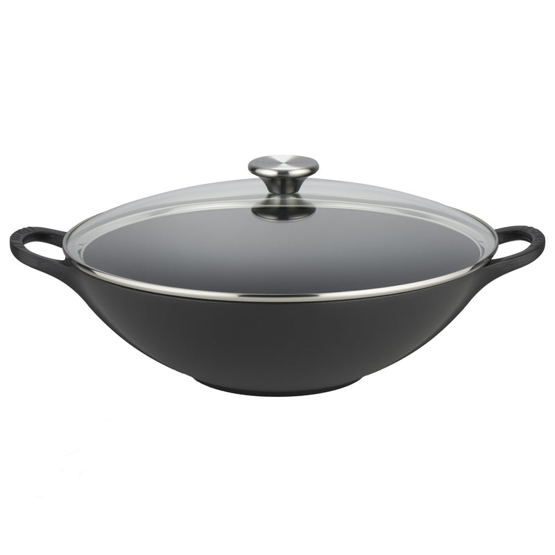 Le Creuset Wok With Glass Lid 32cm