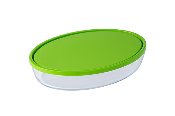COOK & STORE OVAL ROASTER WITH PLASTIC LID