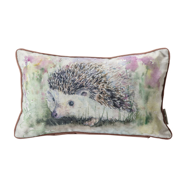 WATERCOLOUR HEDGEHOG CUSHION