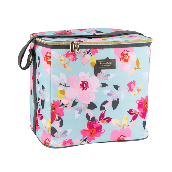 Navigate Gardenia Family Cool Bag In Sky Blue Floral 20L