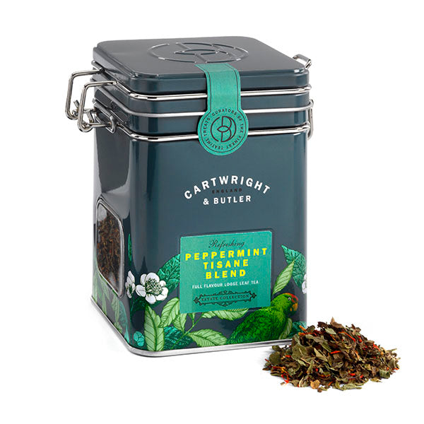 PEPPERMINT TISANE CADDY LOOSE LEAF TEA TIN 30G