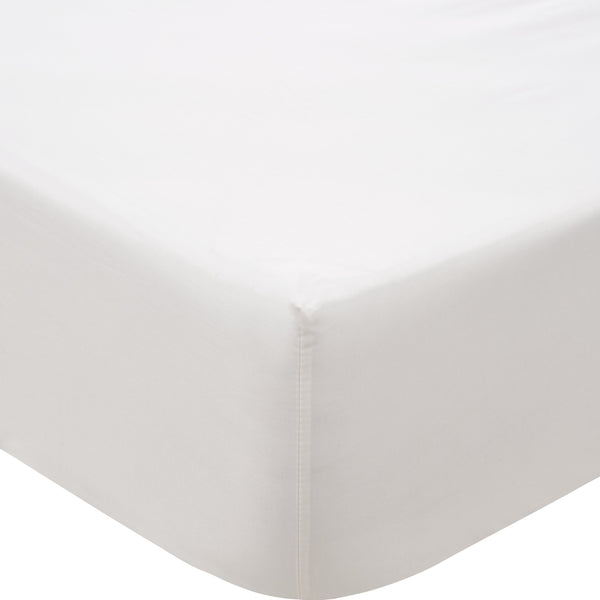 500 THREAD COUNT COTTON SATEEN FITTED SHEET