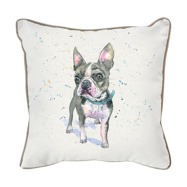 WATERCOLOUR FRENCH BULLDOG CUSHION