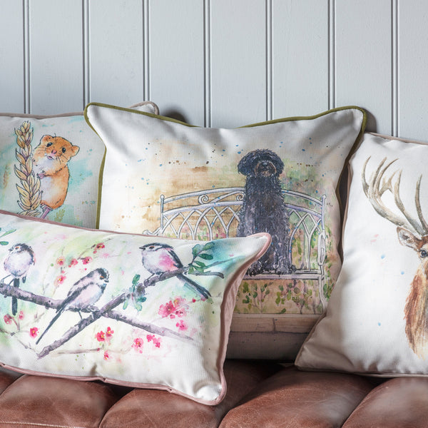 WATERCOLOUR LABRADOODLE CUSHION