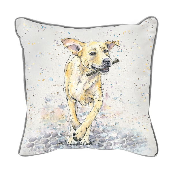 WATERCOLOUR LABRADOR CUSHION