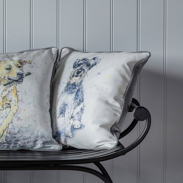 WATERCOLOUR SCHNAUZER CUSHION