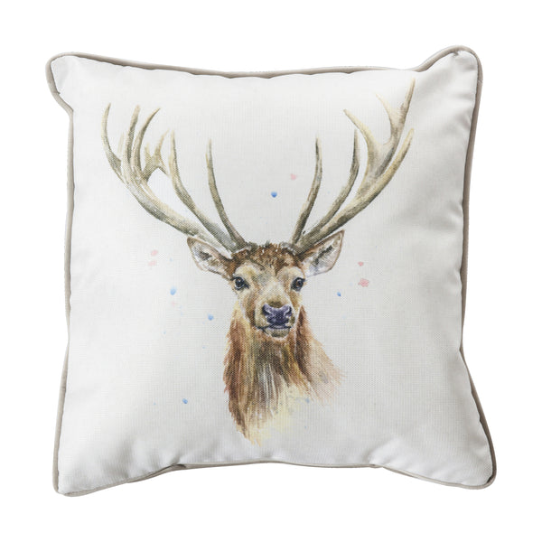 WATERCOLOUR STAG CUSHION