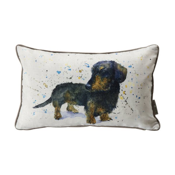 WATERCOLOUR DACHSHUND CUSHION