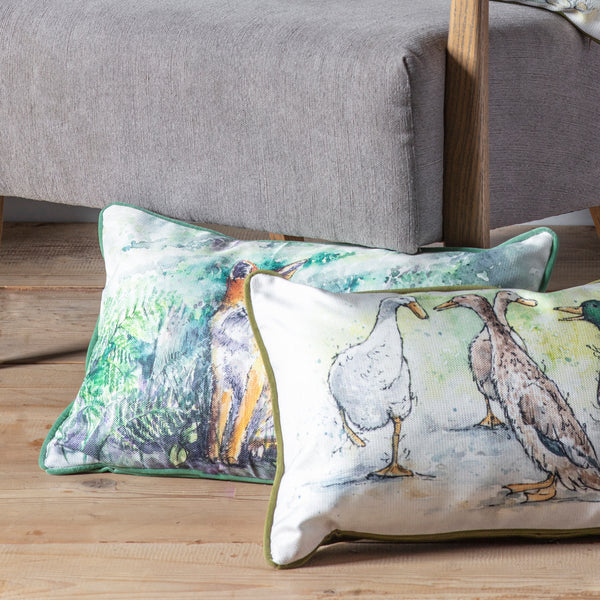 WATERCOLOUR FOREST FOX CUSHION