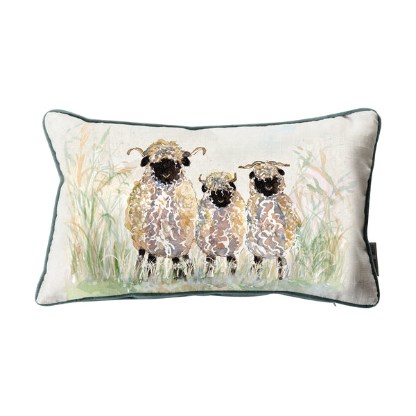 WATERCOLOUR SHEEP CUSHION
